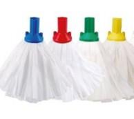 Big White Socket Mop - Various Colours