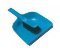 "8"" Plastic Dustpan and Soft PVC Brush Set - Various Colours"
