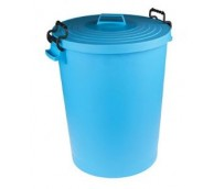110 Ltr Polypropylene Dust Bin With Lid - Various Colours