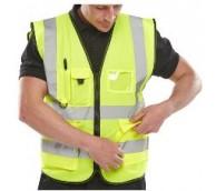 Yellow  Executive Hi Viz Vest - Various Sizes