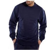 Navy Click Polycotton Sweatshirt - Various Sizes