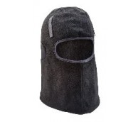 Black Lined Thinsulate Balaclava with Hook and Loop
