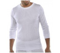 White Long Sleeve Thermal Vest - Various Sizes