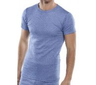 Blue Short Sleeve Thermal Vest - Various Sizes