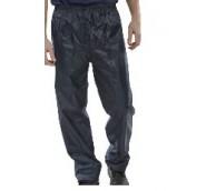 Navy Nylon/PVC Coated B-Dri Trousers - Various Sizes